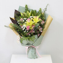 Yellow and Pink Bouquet